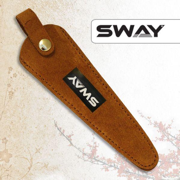 Чехол SWAY для 1 ножниц замшевый рыжий