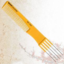 Парикмахерская расческа Sway Yellow ion+ 001 артикул 130 001 фото, цена sw_21765-01, фото 1