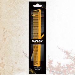 Парикмахерская расческа Sway Yellow ion+ 004 артикул 130 004 фото, цена sw_21775-04, фото 4