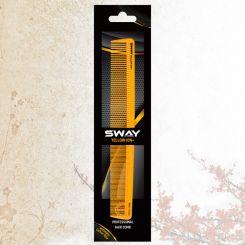 Парикмахерская расческа Sway Yellow ion+ 005 артикул 130 005 фото, цена sw_21776-04, фото 4