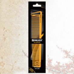 Парикмахерская расческа Sway Yellow ion+ 006 артикул 130 006 фото, цена sw_21777-04, фото 4