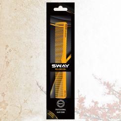 Парикмахерская расческа Sway Yellow ion+ 008 артикул 130 008 фото, цена sw_21779-04, фото 4