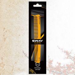 Парикмахерская расческа Sway Yellow ion+ 009 артикул 130 009 фото, цена sw_21780-04, фото 4