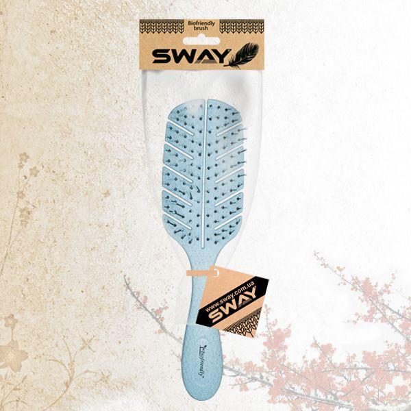 Щетка для укладки волос Sway Biofriendly Wheat Fiber Blue Mini