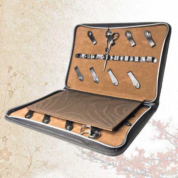 Кейс-дисплей на 16 моделей ножниц Sway Black Edition